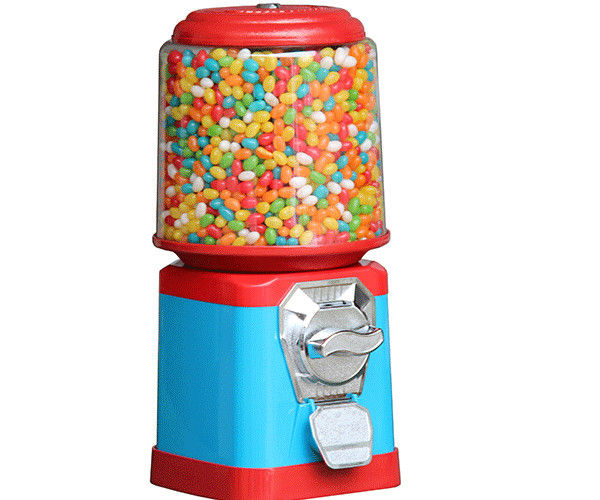Colorful 18 inch Candy Vending Machine Mid Size 1-6 Pieces Coins