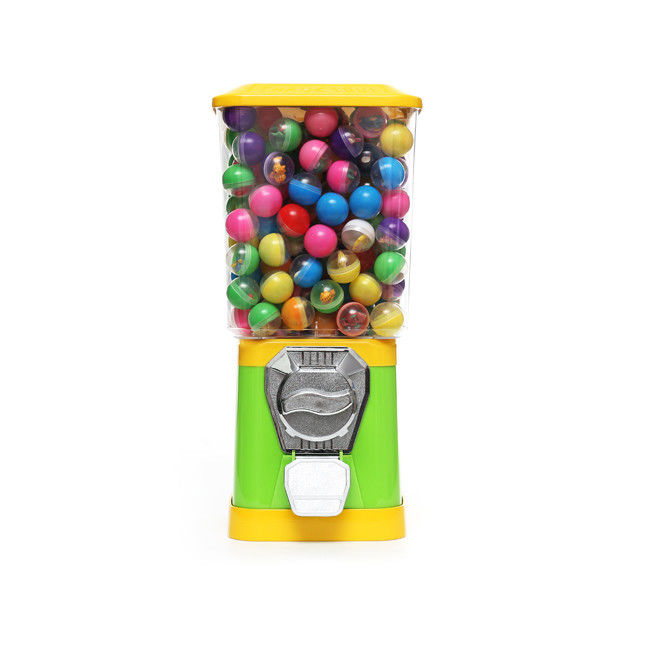 6 Coins 45CM Metal 1.4'' Gumball Candy Capsule Vending Machine