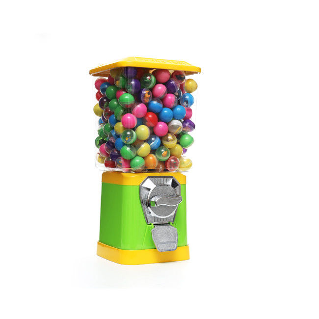 personalized gumball capsule vending machine customize coins 45CM metal yellow 1.4 inch